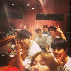 Baekhyun, Suho, Chanyeol, Sehun and Lay | 150704 oohsehun Instagram Update