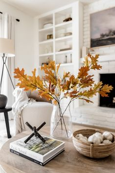 Create a stunning display of fall leaves for your fall living room decor. These artificial fall oak leaves are the perfect addition to any space. Shop fake fall leaves at Afloral.com.