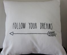 Graduation Presents, Cottages By The Sea, Waiting For Her, Follow You, Pillow Forms, Cotton Pillow, Custom Pillows, Crafts To Make, Machine Embroidery
