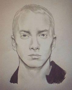 Very rushed job of eminem  #drawing #sketch #pencil #eminem #slimshady #art…