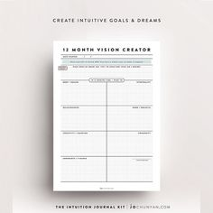 What are you bringing into your energetic realm for 2017? What are you wanting to attract and bring to life? The new year has such beautiful energy for manifesting and getting clear on your dreams desires goals and dreams. I created the Vision Creator journal sheet for The Intuition Journal Kit to put things onto paper - it comes in 12 month 6 month and 3 month versions too so that you can align your energy with your long term mid term and short term goals. I absolutely love this process…