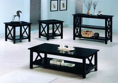Casual Brown Coffee Table Set