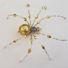 Hey, I found this really awesome Etsy listing at https://www.etsy.com/listing/554449628/handmade-beaded-spider-spinderella