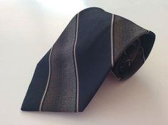 Enrico Sarchi Neck Tie Black Brown Striped #EnricoSarchi #NeckTie