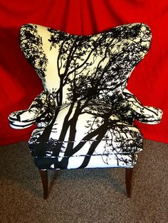 Hollywood Regency chair Maija Isola Fabric