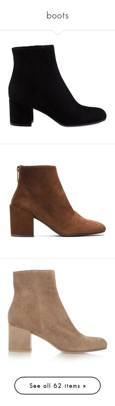 """""""boots"""" by ivystyles ❤ liked on Polyvore featuring shoes, boots, ankle booties, momma shoes, ankle boots, gianvito rossi booties, ankle bootie boots, suede boots, suede ankle bootie and heels"""