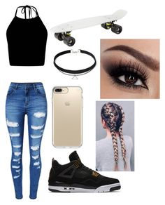 """Untitled #89"" by bruh-its-sudsies ❤ liked on Polyvore featuring WithChic, NIKE and Speck"