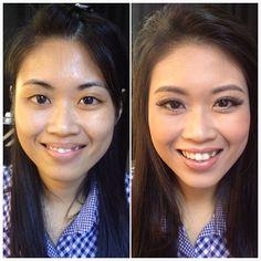 Prewedding makeup, before & after. Bride: Seng Fong #wedding #bride #makeup