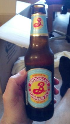 Brooklyn Summer Ale, lemony but with a stronger bite than normal summer ales.