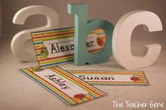 Classroom Freebies Too: Editable Name Plates Classroom Procedures, Classroom Organization, Classroom Decor, Teacher Freebies, Classroom Freebies, Stuff For Free, Organization And Management, Name Activities, First Grade Teachers