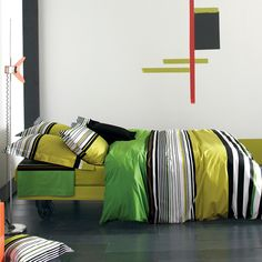 eu.Fab.com | Florida Bed Linen 155x220 . . . what fabulous colours and pattern: sharp, contemporary and very snazzy . . . £64