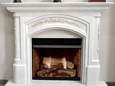 Angelique Stone Fireplace Mantel Stone Fireplace Mantles, White Stone Fireplaces, Wood Fireplace Surrounds, Mantel Surround, Country Fireplace, Fireplace Wall, Fireplace Ideas, Electric Fireplace Reviews, Best Electric Fireplace