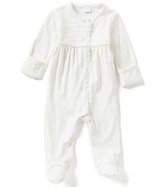 Starting Out Baby Girls Newborn6 Months Pima Cotton Dotted Coverall #Dillards