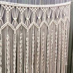 Handmade macrame wall hanging; 1m wide x 120cm long boho wall art wedding backdrop by GypsyAndLily on Etsy https://www.etsy.com/au/listing/287457585/handmade-macrame-wall-hanging-1m-wide-x