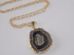 Amethyst Stalactite Necklace amethyst stalactite by MalieCreations