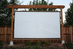 outdoor theater screen - make it retractable to it will last...
