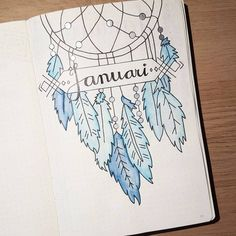 dream catcher bullet journal inspiration ideas/journaling/bullet journals/ Thinking about creating something more BoHo for your bullet journal? These Dream Catcher Bullet Journal ideas will take it to the next level! Bullet Journal Inspo, Bullet Journal Headers, January Bullet Journal, Bullet Journal Cover Page, Bullet Journal Notebook, Bullet Journal Themes, Journal Covers, Art Journal Pages, Journal Ideas