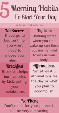 5 Quick & Simple Morning Habits To Help Start Your Day - Self-Care Overload - Self-Care Tips...