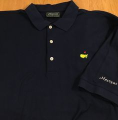 Masters Collection Navy Men's Short Sleeve Golf Polo Shirt Size XL Solid Logo #MastersCollection #PoloRugby