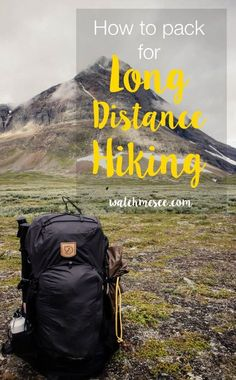 How and what to Pack for Long-Distance Hiking and Trekking - Watch Me See - Packing for long-distance hiking is a meticulous task. Every item you bring must serve its purpose - Thru Hiking, Camping And Hiking, Camping Gear, Outdoor Camping, Camping Hammock, Outdoor Travel, Outdoor Gear, Hiking Food, Camping Checklist