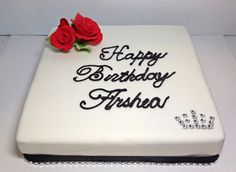 Red roses and bling birthday cake
