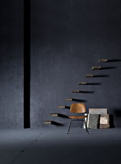 stairs - dark wall, wood photography by beppe brancato Home Interior, Interior Styling, Interior Architecture, Interior And Exterior, Stairs Architecture, Stairs To Heaven, Woods Photography, Chair Photography, Modern Staircase