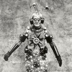 'The Man of the Future', gelatin silver print, From the series 'Carnaval na Lona no Brasil' (Carnival on Canvas in Brazil). This ongoing series chronicles the days of glory of ordinary Brazilians. A fragment of Rio's witty 'downtown' carnival which is characterized by political and social commentary. Exhibited in 'II Rotterdam Photography Biennial', Netherlands, 1990.