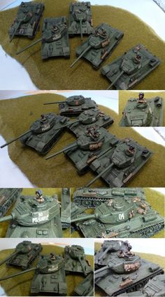 Flames of War | Cheap painted Flames Of War FOW Russians T34/85 tanks on Ebay