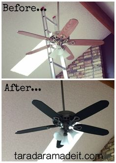 Paint Your Ceiling Fan Without Removing It From the Ceiling!! :: Hometalk