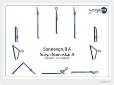 die 7 besten bilder von yogapx  surya namaskar  yoga