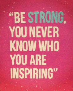 This reminds me of my cousin. She is always telling me that I inspire her and she wants to be like me. She is the reason that I stay so strong all the time. <3
