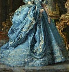 Isabel of Bourbon by Vicente Palmaroli - Click to enlarge