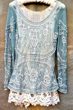 ☮️ American Hippie Bohéme Boho Style ☮️ INCREDIBLY BEAUTIFUL!! (I would absolutely love a top like this!!)