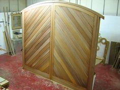 Bespoke Joinery in Merrin Joinery's Nottinghamshire workshop Timber Gates, Wooden Gates, Wooden Garage Doors, Patio Doors, French Windows, French Doors, Arched Doors, Garage Makeover, Love Your Home