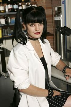 Abby in her lab . . . she is brilliant as a scientist and major part of the NCIS crime-solving team
