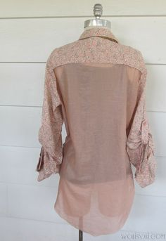 WobiSobi: Shirt Re-style: Sheer back DIY