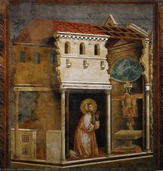 Giotto di Bondone : Legend of St Francis: 4. Miracle of the Crucifix (Upper Church, San Francesco, Assisi) (Private collection) 1267-1337 ジョット・ディ・ボンドーネ