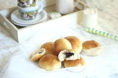 panini soffici con cuore di cioccolato per la vostra colazione, la vostra merenda!
