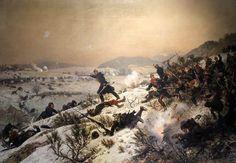 """""""Battle of Chenebier 16th January 1871"""" - Alphonse Marie Adolphe de Neuville."""