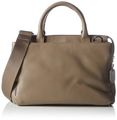 Mandarina Duck Mellow Leather Tracolla Taupe, Sacs bandoulière Femme