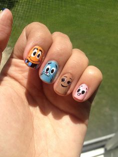 The Amazing World of Gumball nails :) Darwin, Gumball, Penny, and Anais