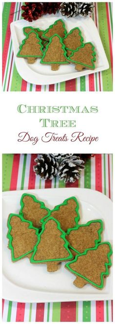 Homemade Dog Food Ready for another great holiday dog treats recipe that you can whip up for your special canine companion? These Christmas Tree treats are so cute! Christmas Tree Food, Christmas Treats, Holiday Treats, Christmas Dog, Christmas Breakfast, Homemade Christmas, Holiday Parties, Dog Biscuit Recipes, Dog Treat Recipes