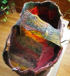 "Wool love-functional fiber art: ""Stash Busting"" Flat Felt Projects- Part 4 of 4"