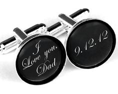 Custom monogram cuff links Personalized father of by haomaihanger, $12.99