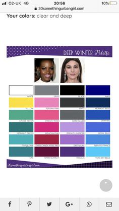 Deep Winter Palette, Colors For Skin Tone, Candy Apple Red, Dark Winter, Fashion Capsule, Midnight Blue, Lilac, Leo, Spring