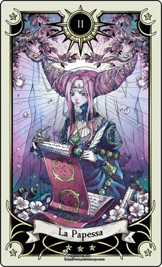 Tarot card 2- the High Priestess by *rann-rann on deviantART