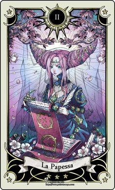 Tarot card 2- the High Priestess by rann-rann.deviantart.com