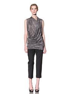 Doo.Ri Women's Sleeveless Drape Top (Grey Combo)