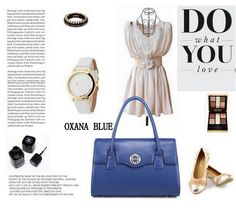Geanta dama piele naturala OXANA BLUE Polyvore, Leather, Blue, Image, Fashion, Moda, Fashion Styles, Fashion Illustrations