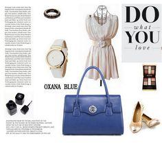 Geanta dama piele naturala OXANA BLUE